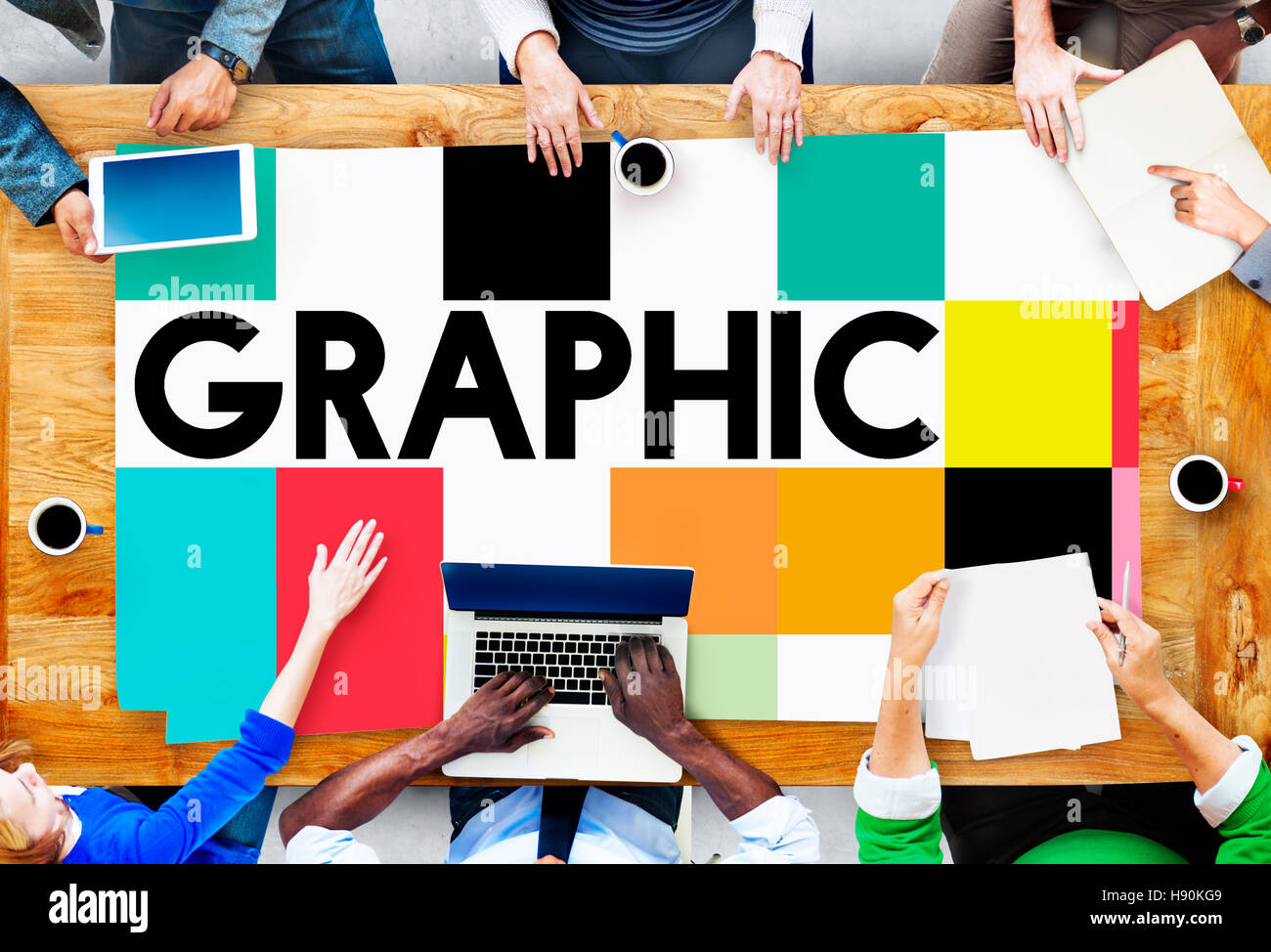 Graphic Creative Design Visual Art Concept - Stock Image