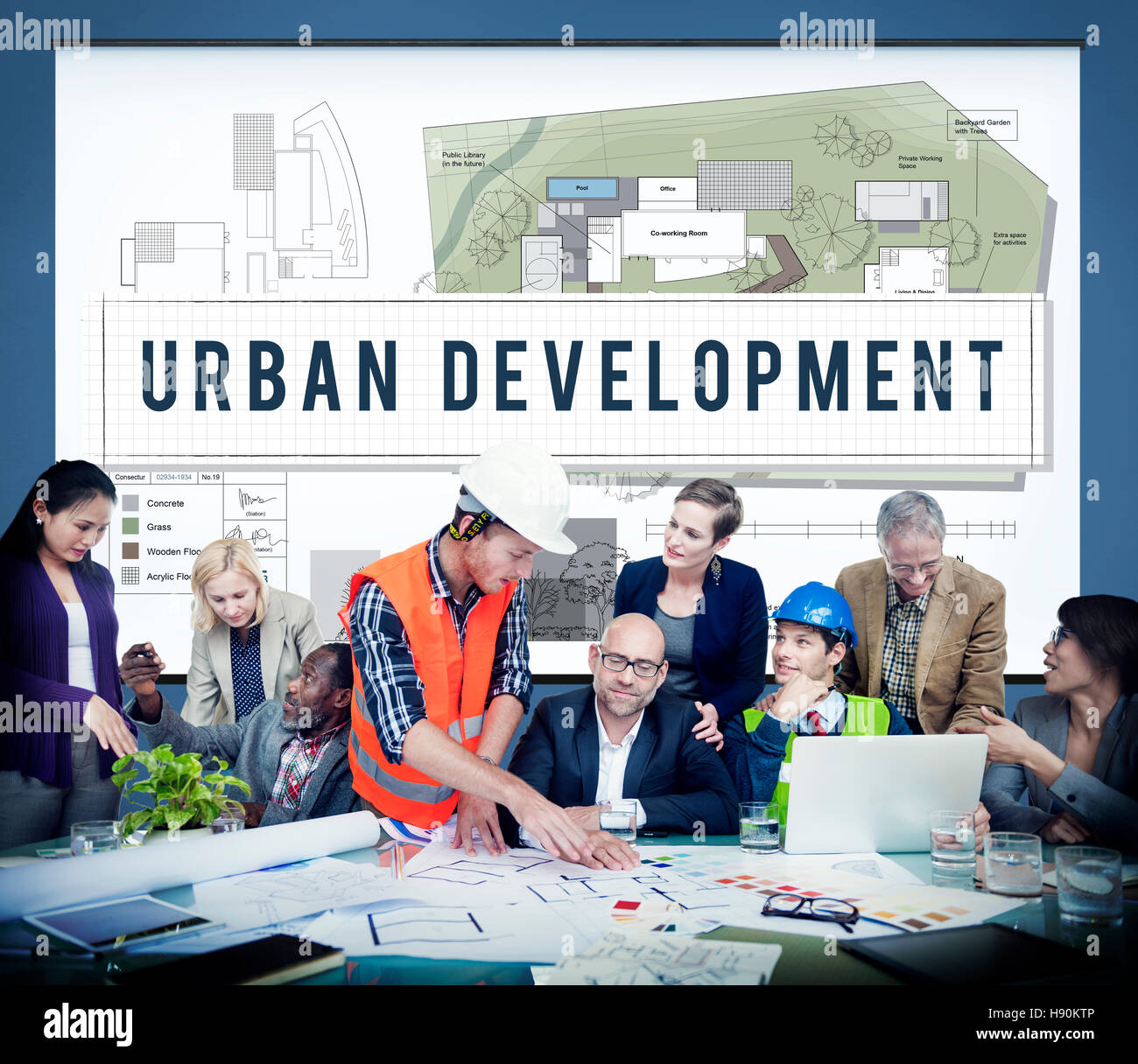 Urban Planning Development Build Design Concept - Stock Image