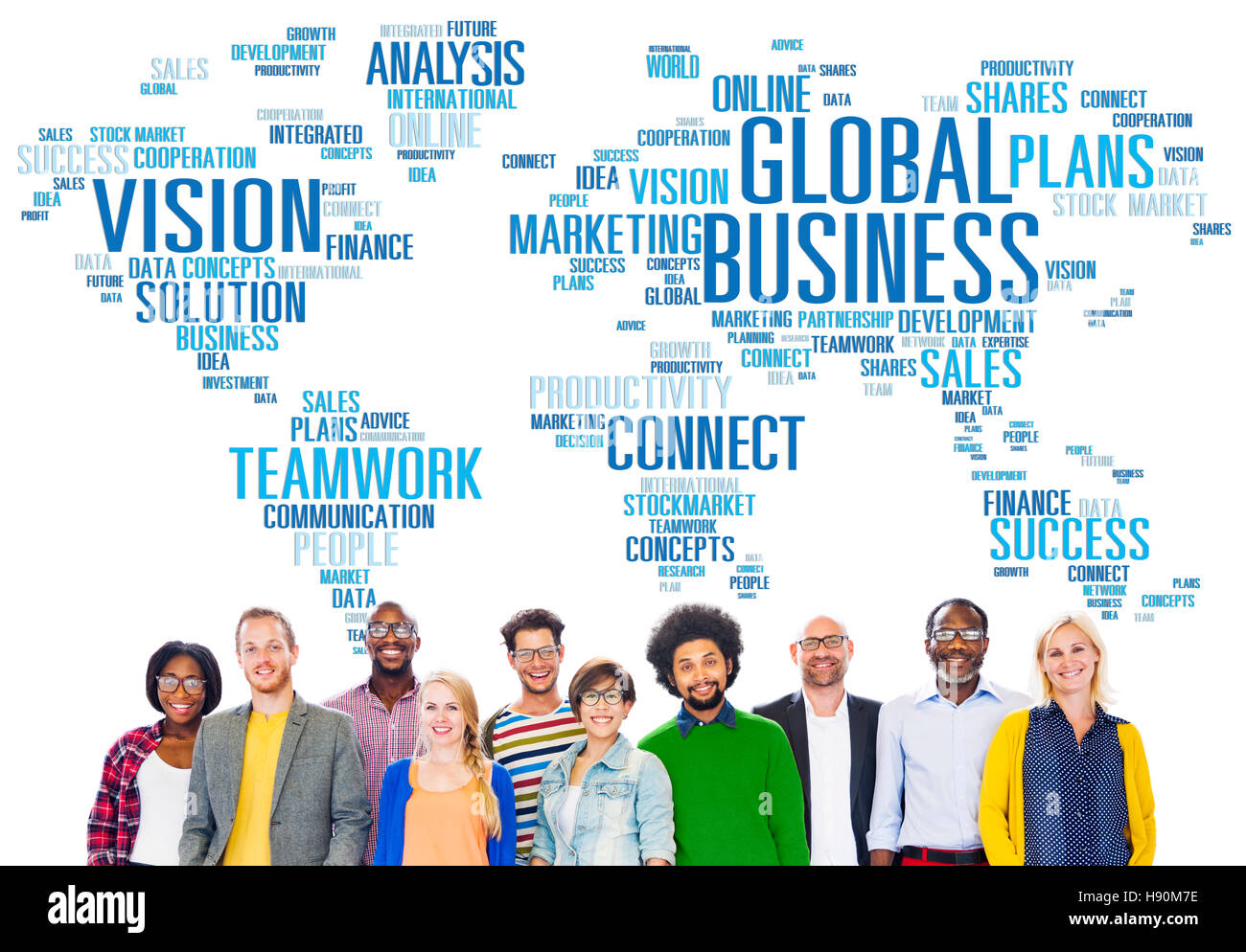 Global Business World Commercial Business People Concept - Stock Image