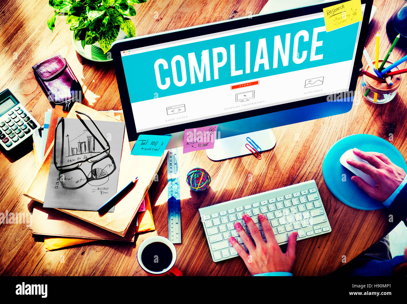 Compliance Rules Regulations Policies Codes Concept - Stock Image