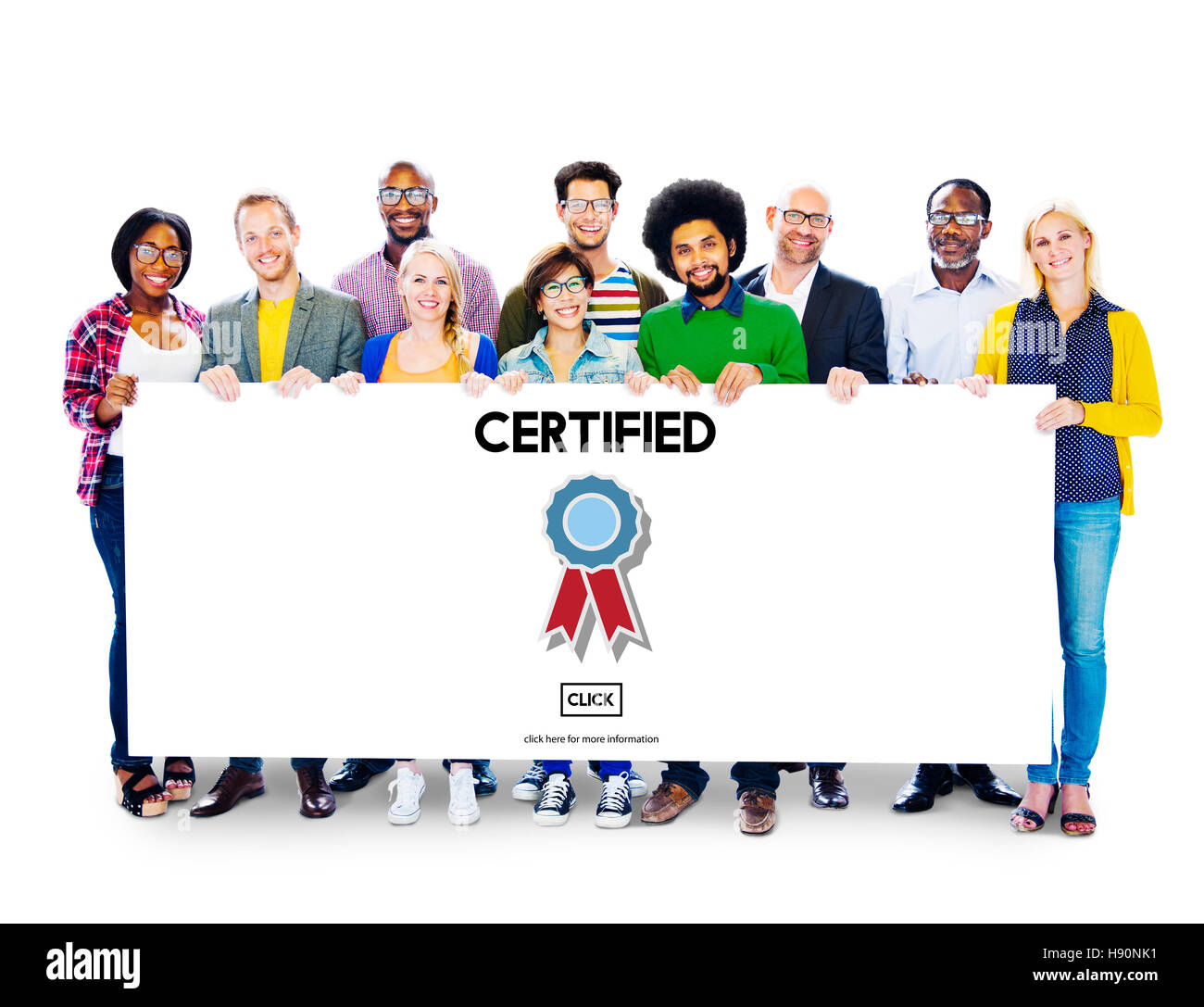 Certified Approval Agreement Confirmation Concept - Stock Image