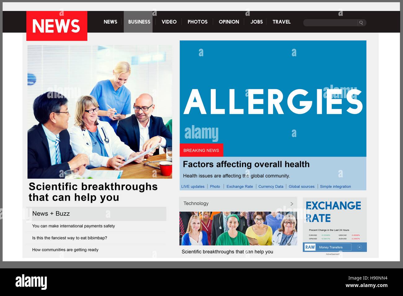 Allergies Reaction Aversion Medical Sensitive Concept - Stock Image