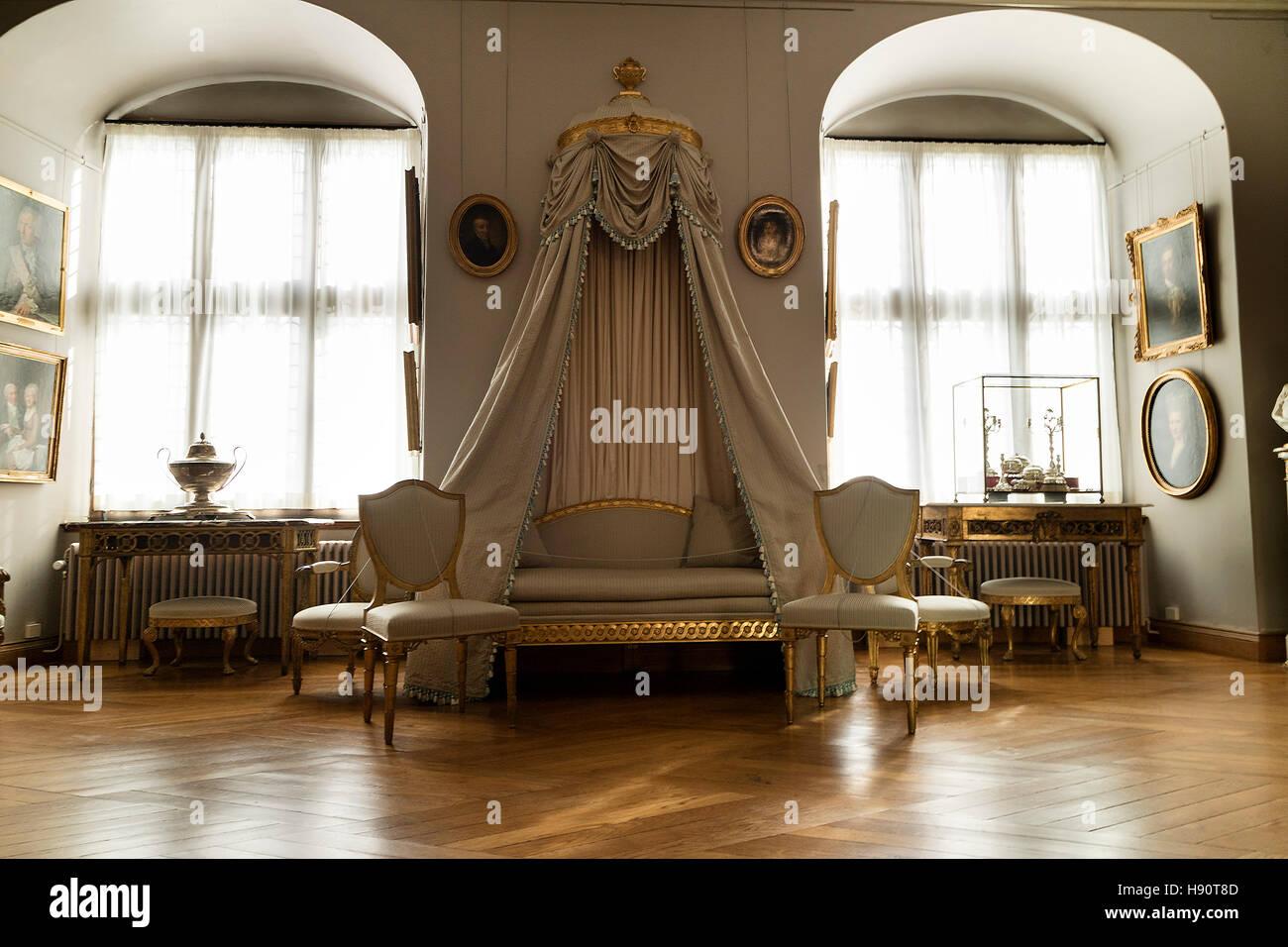 Room in Frederiksborg castle, Hillerod, Denmark - Stock Image