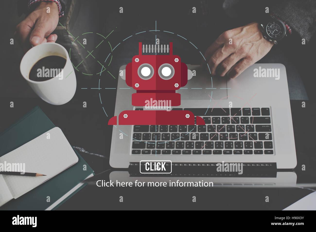 Robot Cyborg Ai Robotics Android Concept Stock Photo 126024975 Alamy