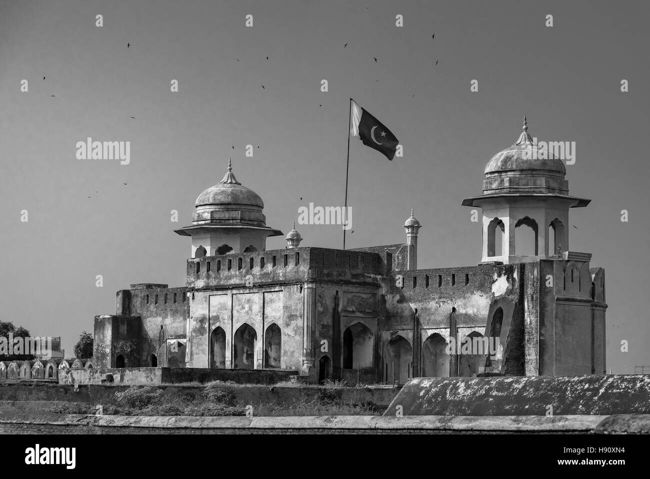 The Lahore Fort, locally referred to as the Shahi qila  is a citadel in the city of Lahore, Punjab, Pakistan. - Stock Image