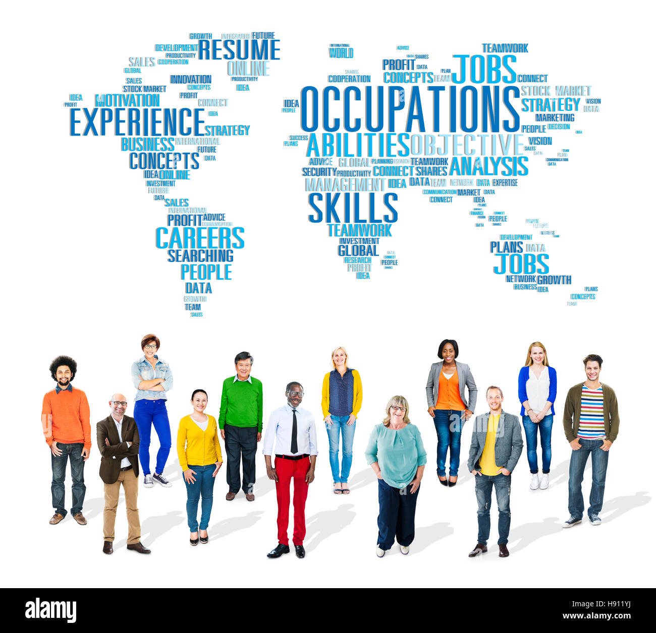 Occupation Job Careers Expertise Human Resources Concept - Stock Image