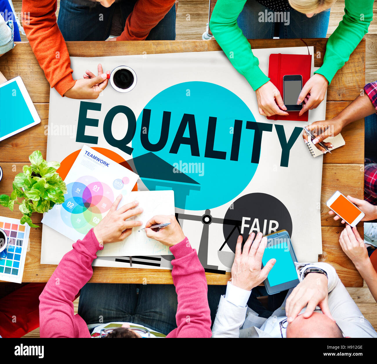 Equality Parity Balance Justice Fair Concept - Stock Image