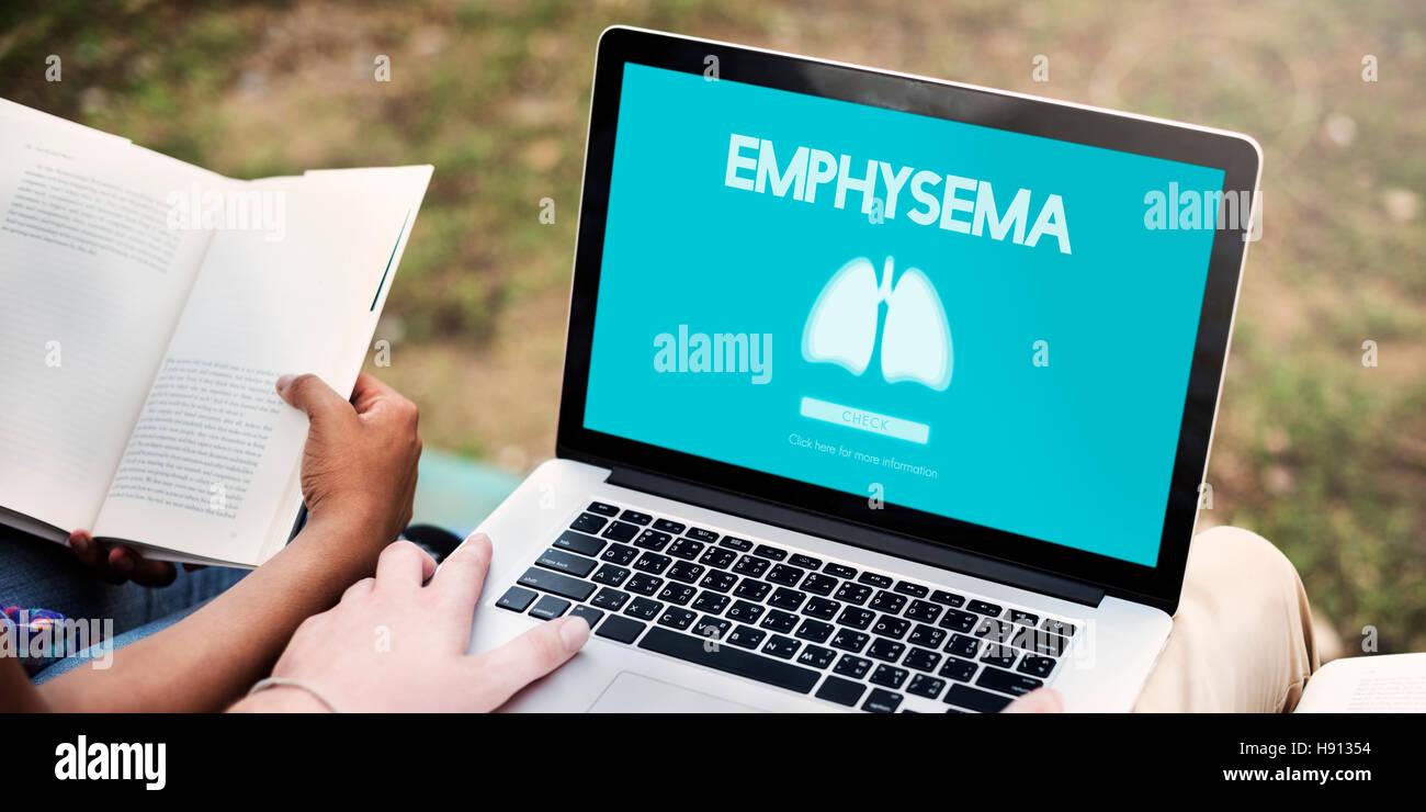Lungs Medicine Pneumonia Asthma Bronchitis Concept - Stock Image