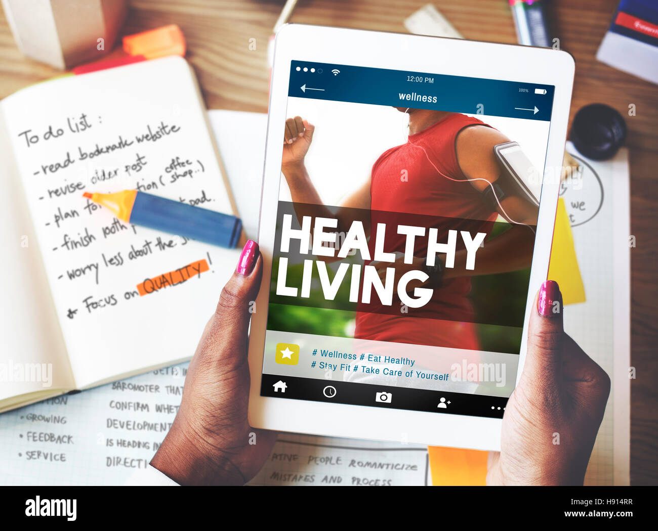 Healthy Life Living Nutrition Active Excercise Concept - Stock Image