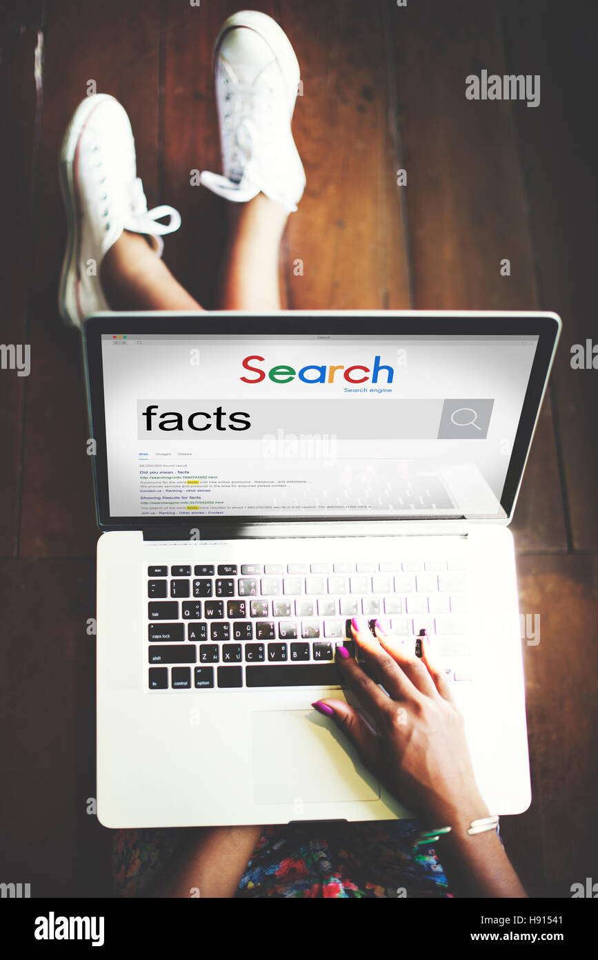 Facts Information Point Certainty Datails Factor Concept - Stock Image