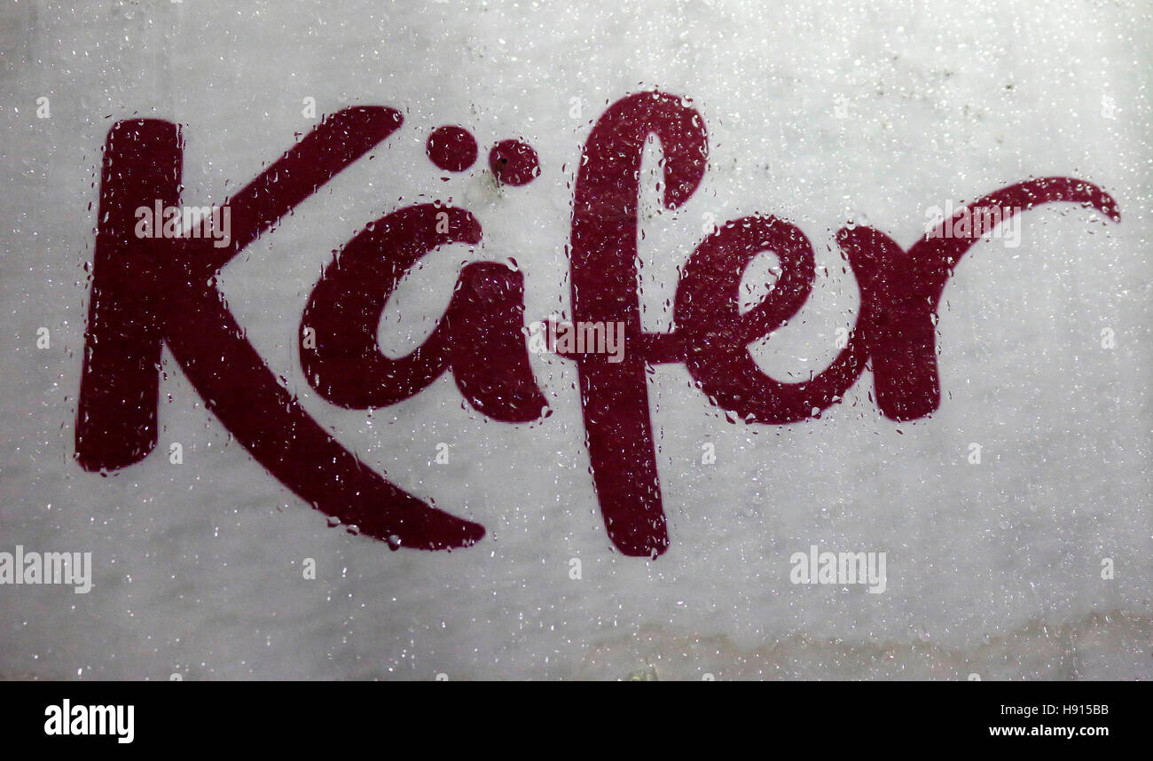 das Logo der Marke 'Kaefer', Berlin. - Stock Image