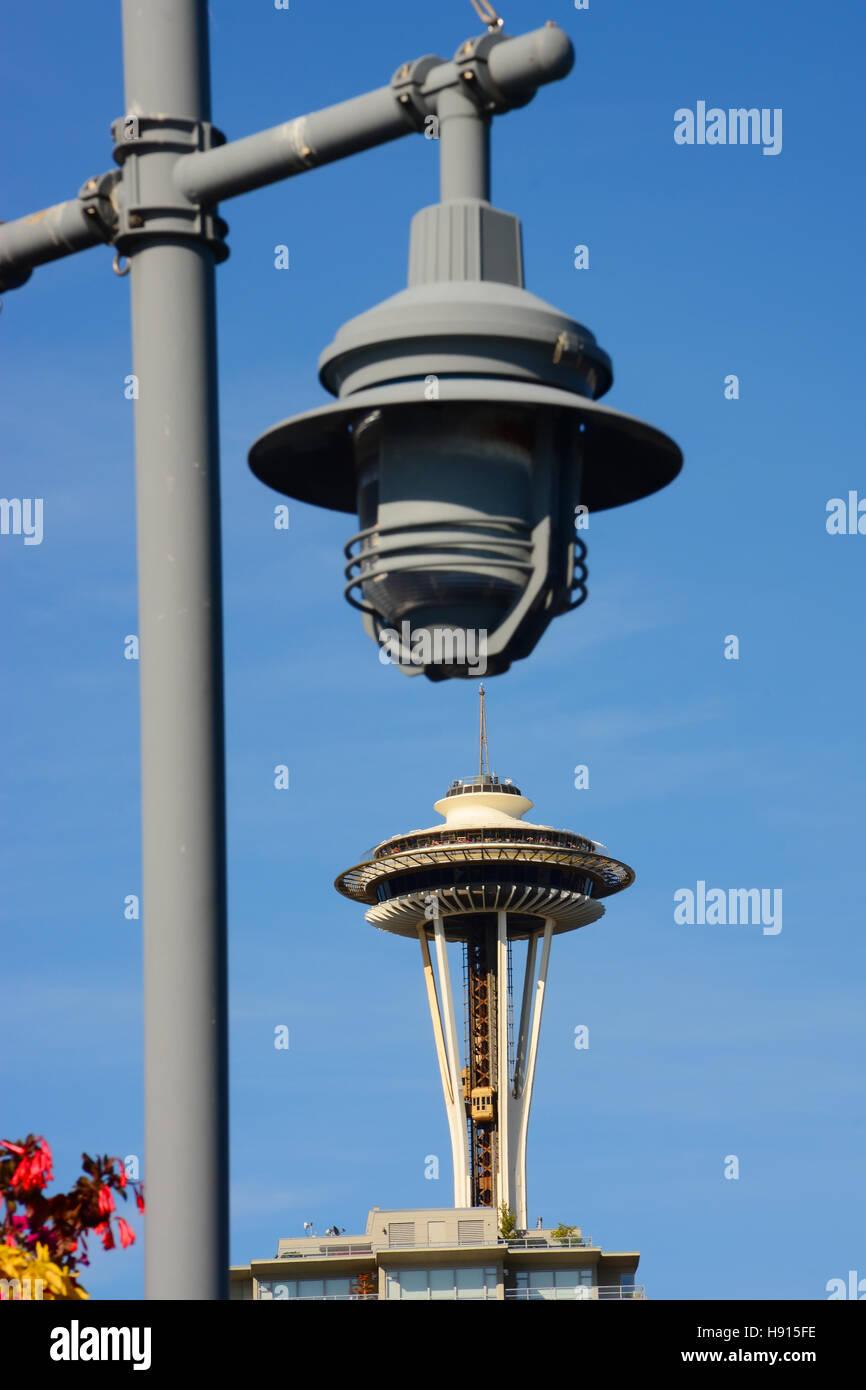 Space needle Seattle, Washington State - Stock Image