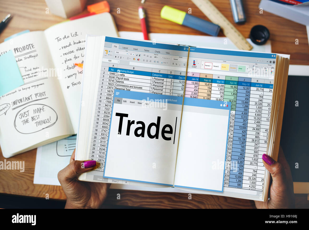 Trade Exchange Import Export Business Transaction Concept - Stock Image