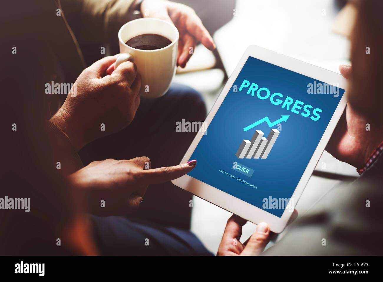 Progress Advance Growth Improvement Better Concept - Stock Image