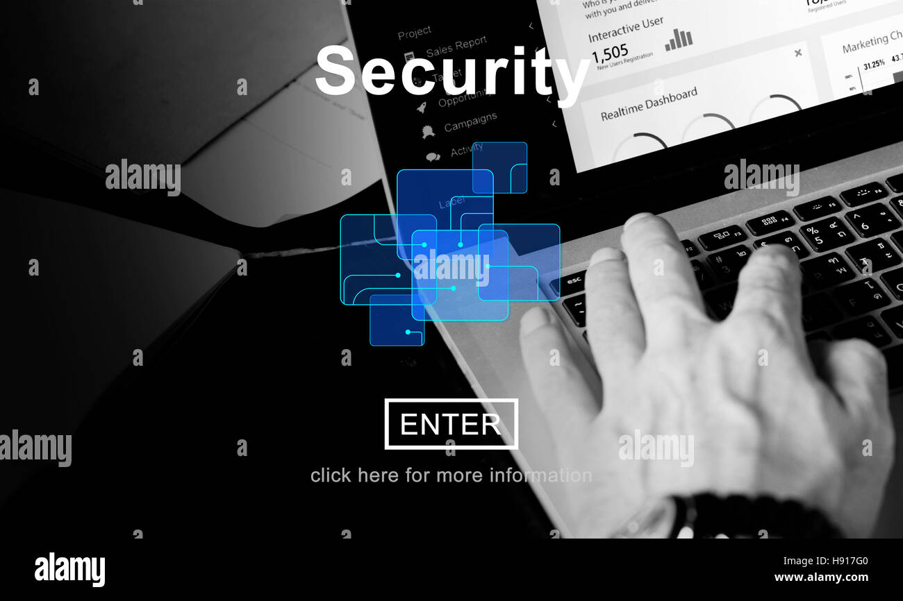 Security Privacy Safety Protection Secrecy Concept - Stock Image