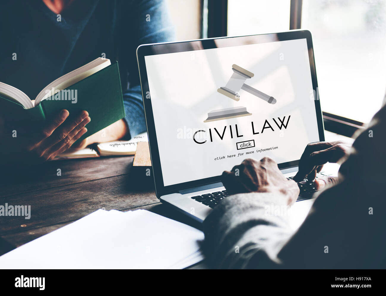 Civil Law Common Justice Legal Regulation Rights Concept - Stock Image