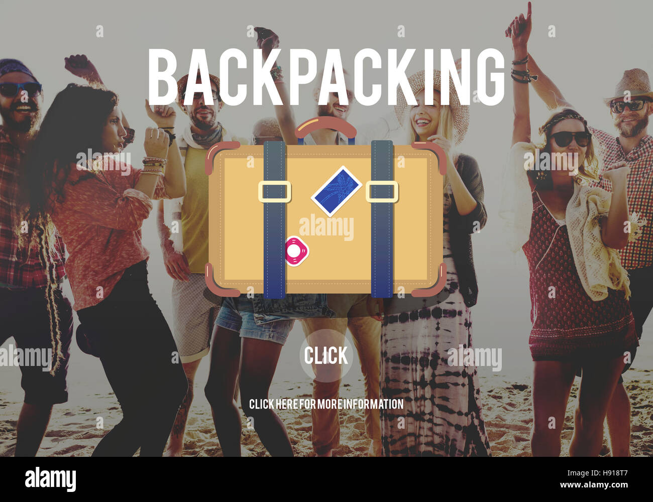 Adventure Backpacking Travel Destination Wander Concept - Stock Image