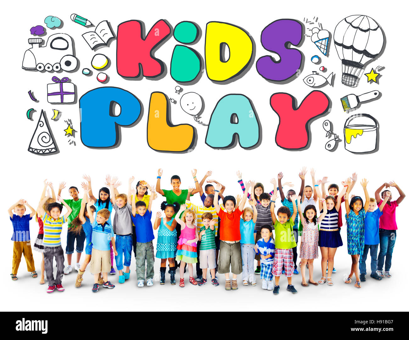 Kids Play Imagination Hobbies Leisure Games Concept - Stock Image
