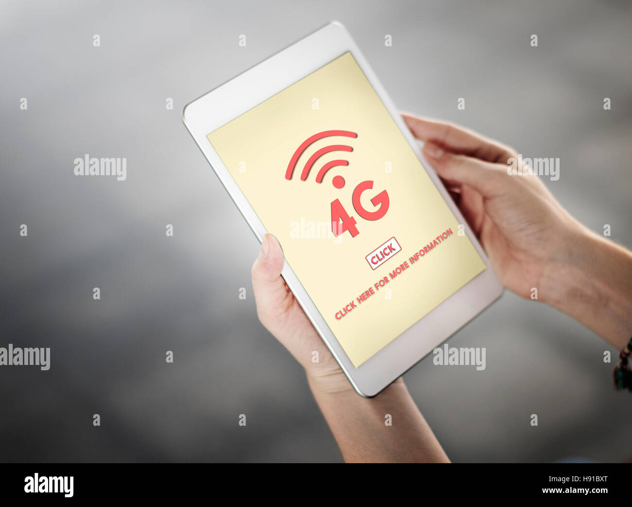 4G Digital Internet Network Technology Wifi Concept - Stock Image