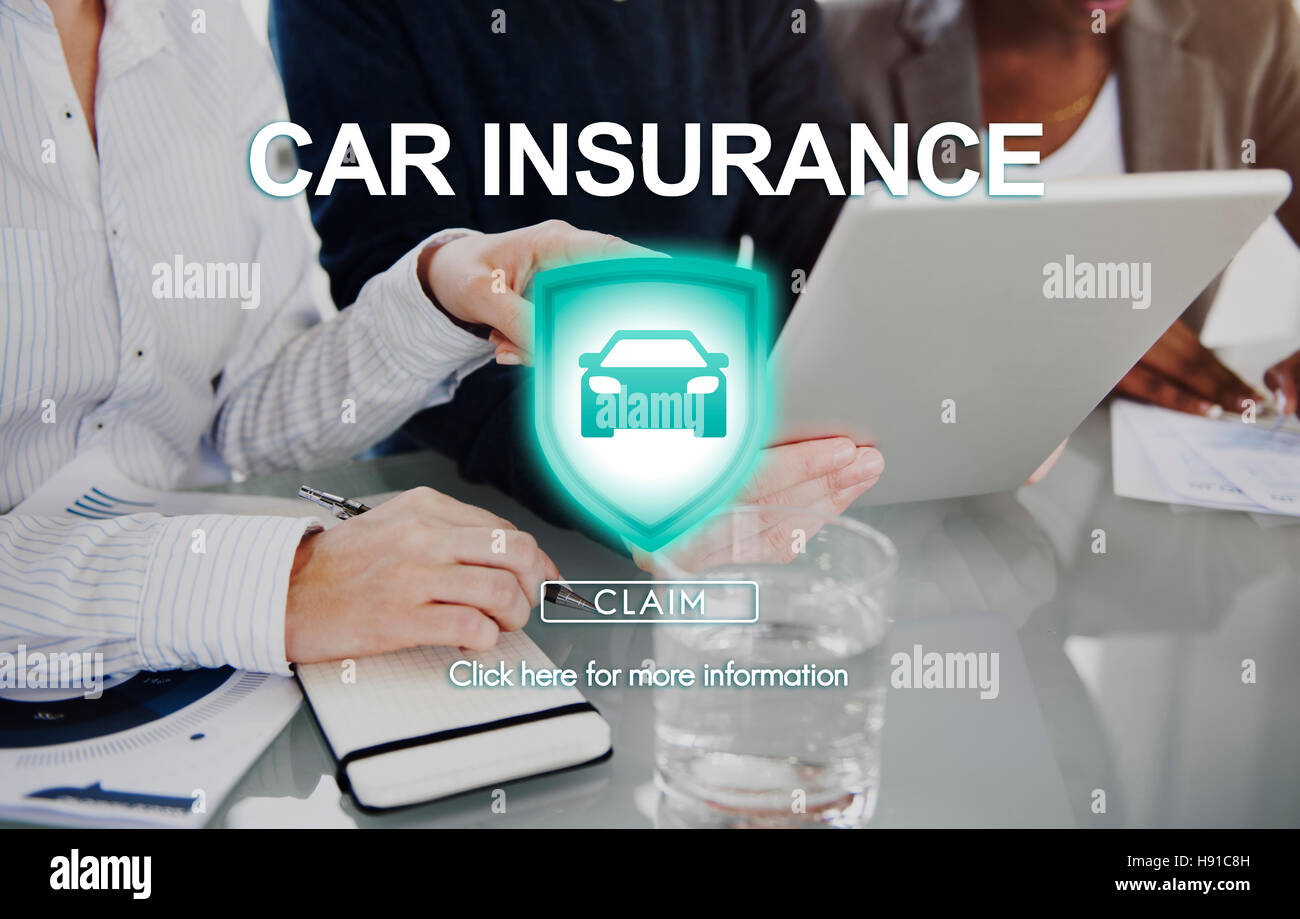 Car Insurance Damage Policy Transport Vehicle Concept - Stock Image