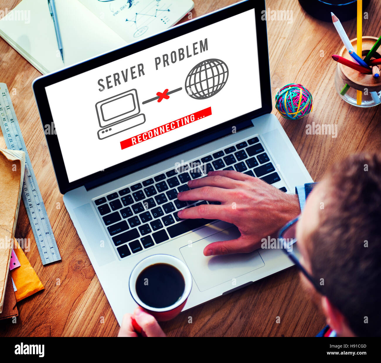 Server Problem Failure Difficulty Complication Concept - Stock Image