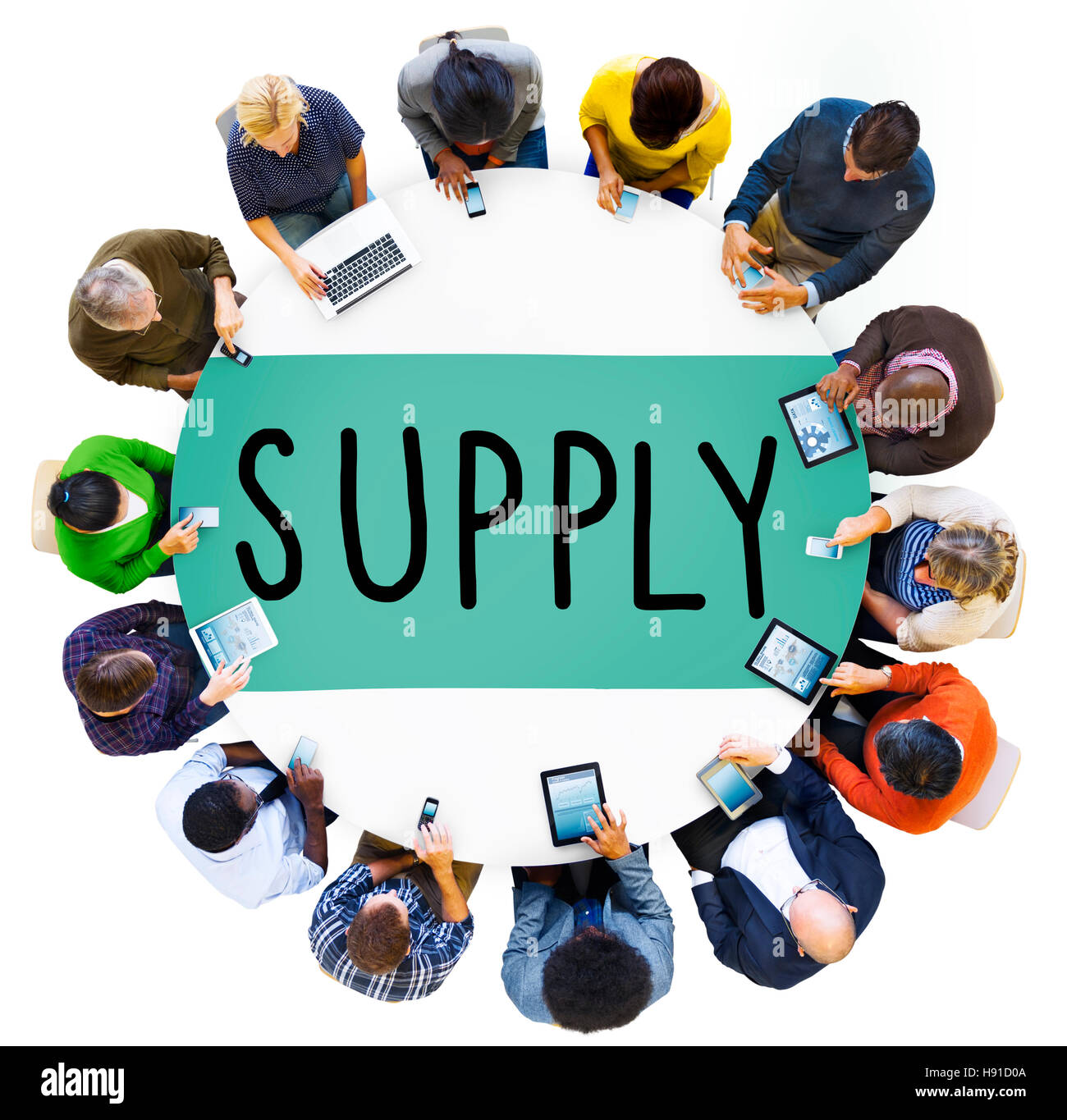 Supply Stock Marketing Logistic Distribution Business Concept - Stock Image
