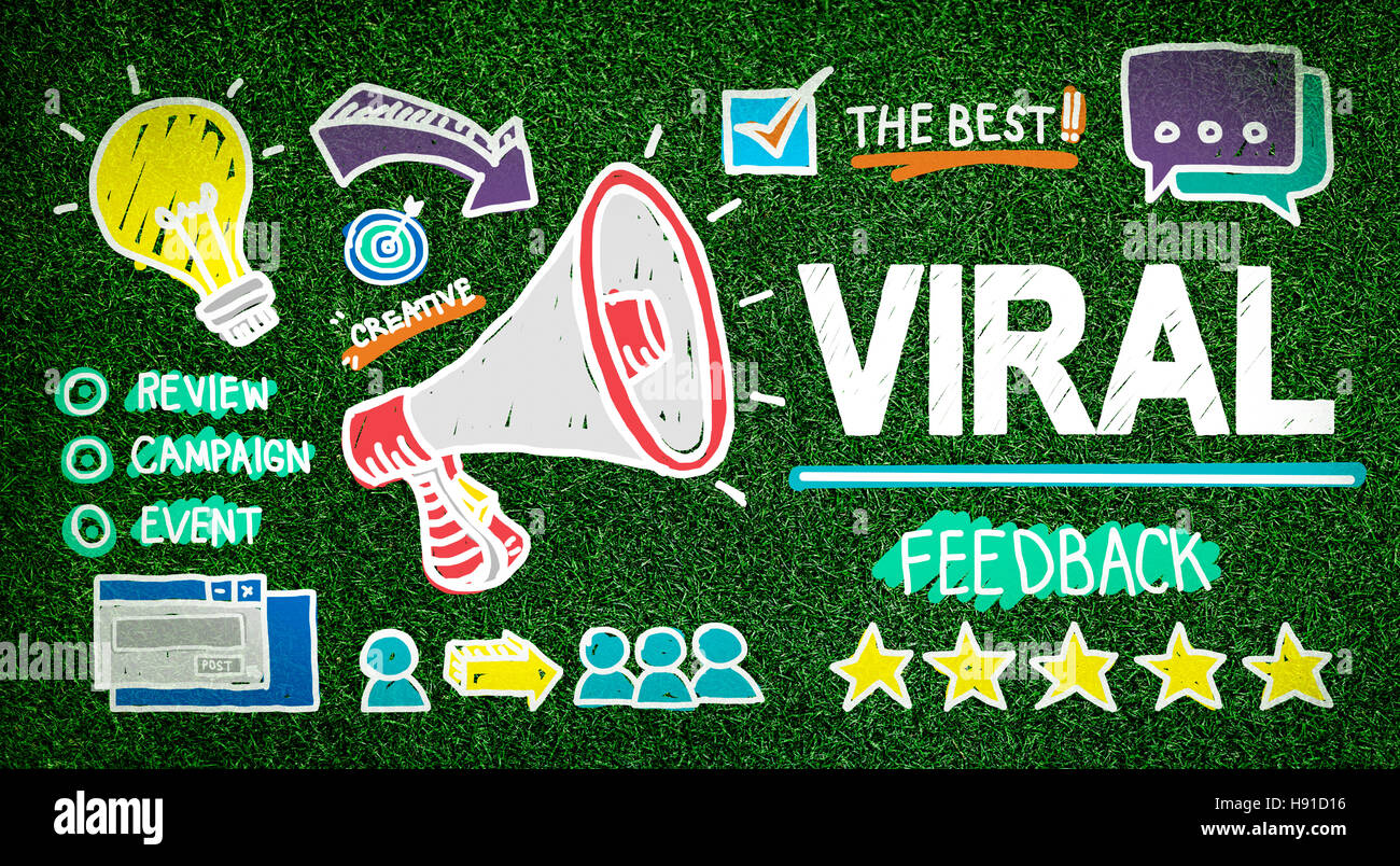 Viral Marketing Spread Review Event Feedback Concept - Stock Image