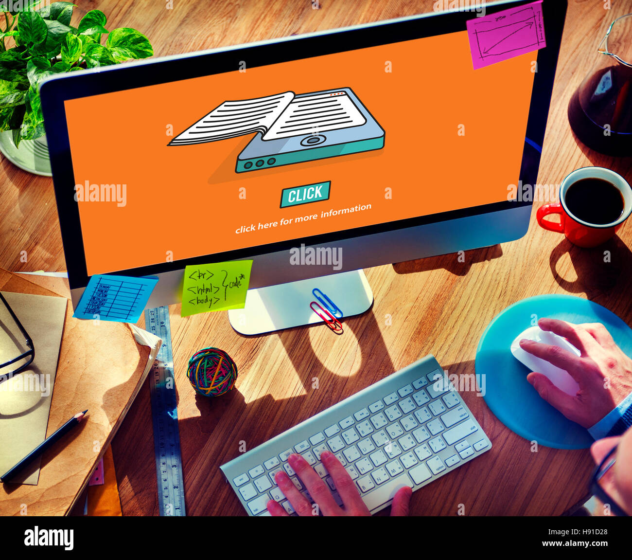 Ebook Reading Digital Learning Modern Concept - Stock Image