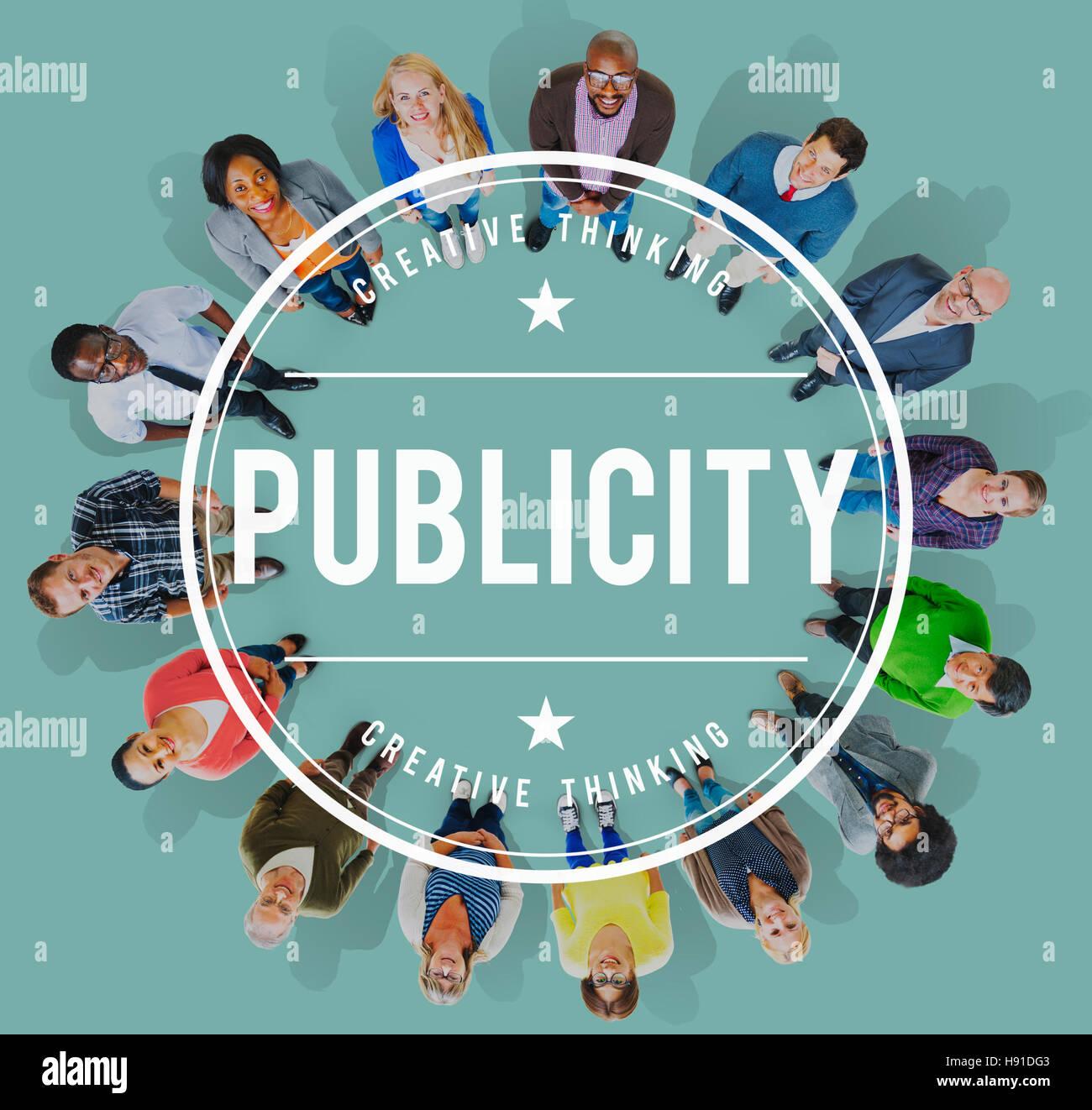 Publicity Public Attention Propaganda Boost Relation Concept - Stock Image