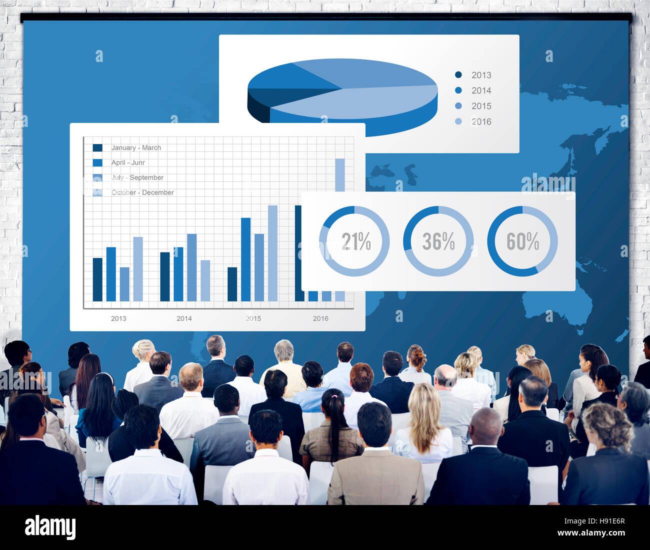 Business Chart Organisation Success Concept - Stock Image