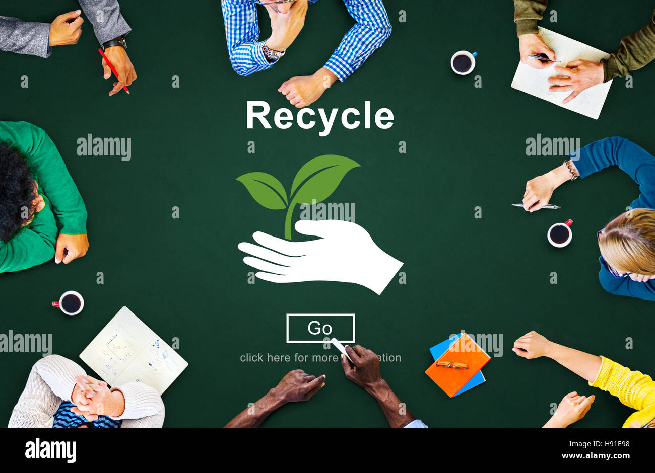 Recycle Reuse Reduce Ecosystem Environment Concept - Stock Image