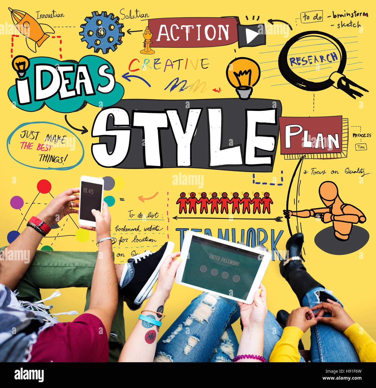 Style Posh Fashion Trendy Fashionista Concept - Stock Image