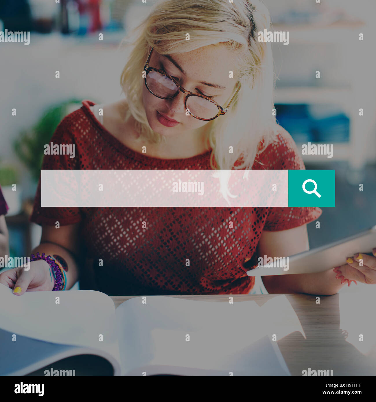 Search Finding Discover Optimisation Seeking Concept - Stock Image