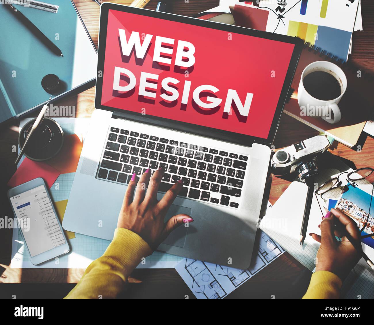 Web Design Website Homepage Ideas Programming Concept Stock Photo ...