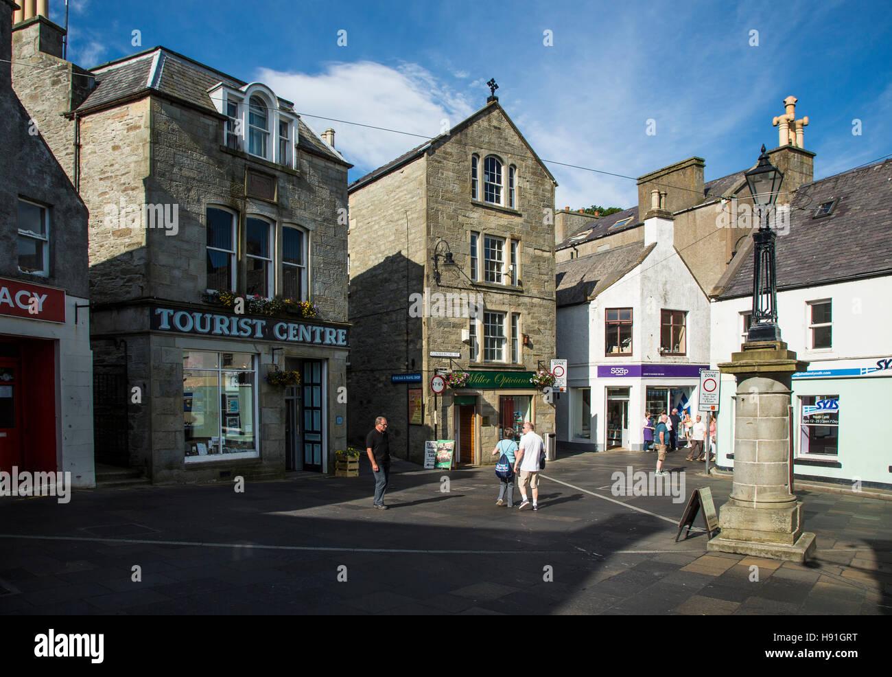 Town Centre, Lerwick, Shetland Islands, Scotland - Stock Image