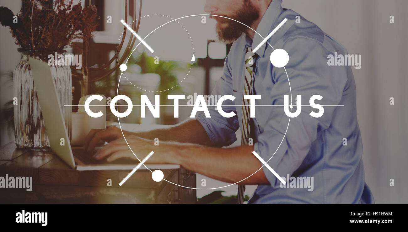 Contact Us Customer Service Enquiry Support Assistance Concept - Stock Image
