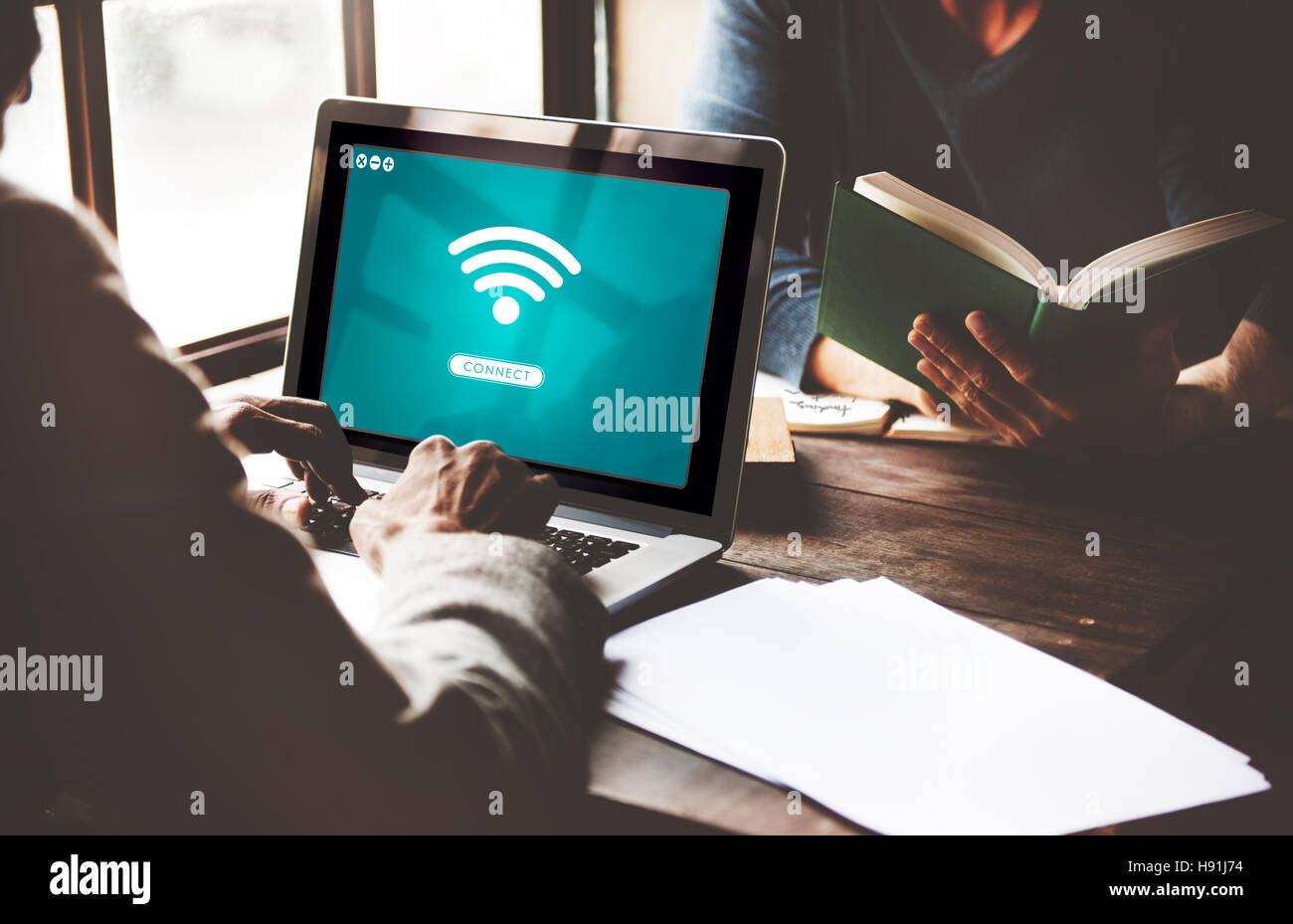 Wifi Network Connect Graphic Concept - Stock Image