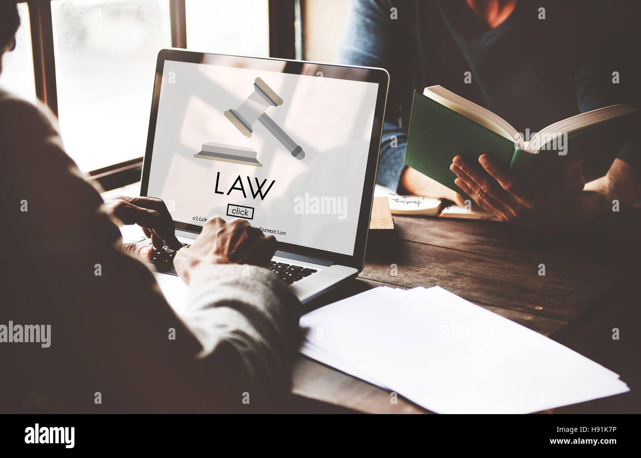 Law Lawyer Governance Legal Judge Concept - Stock Image