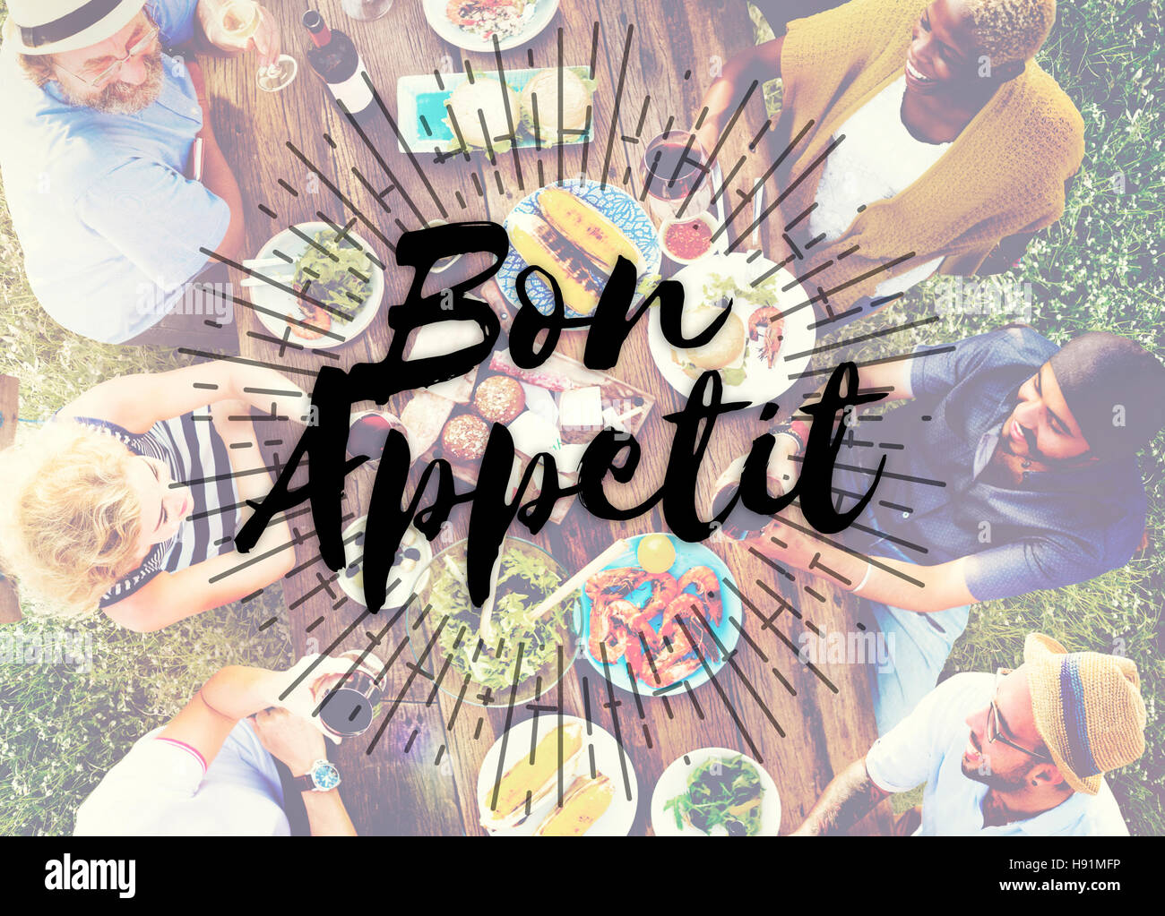 Bon Appetit Food Delicious Meal Concept - Stock Image