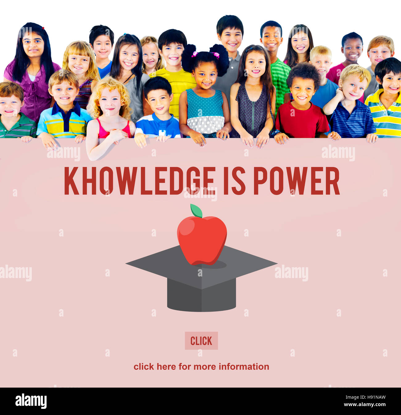 Knowledge Is Power Education Graduation Successful Concept - Stock Image