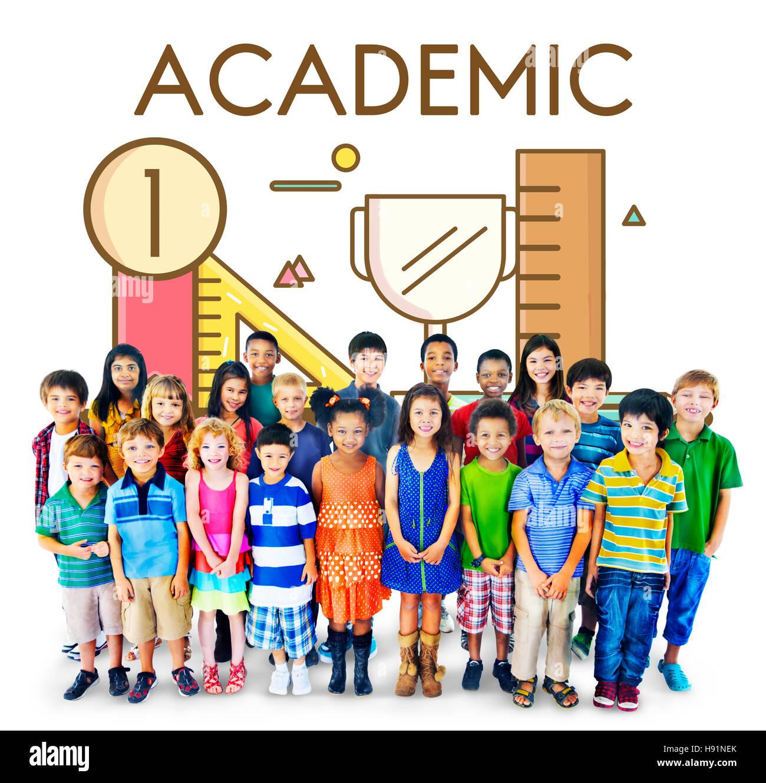 Academic Knowledge Literacy Wisdom Education Concept - Stock Image