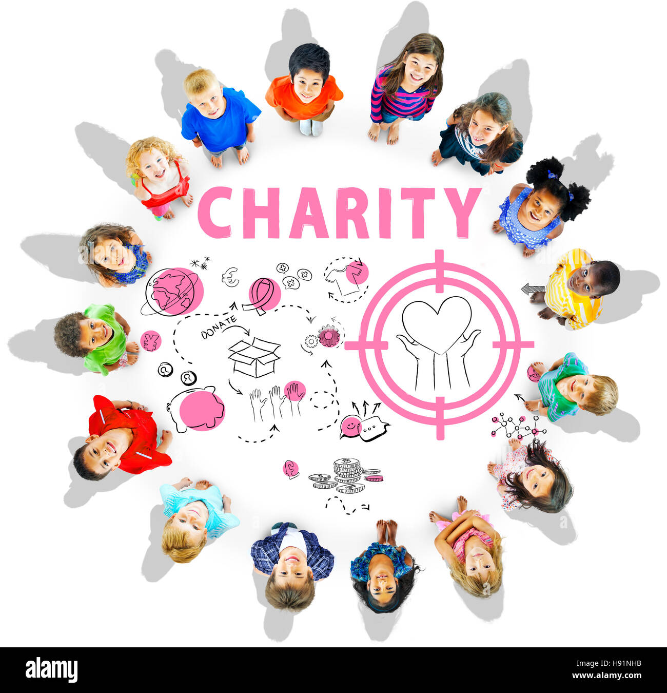 Charity Aid Donation Awareness Concept - Stock Image