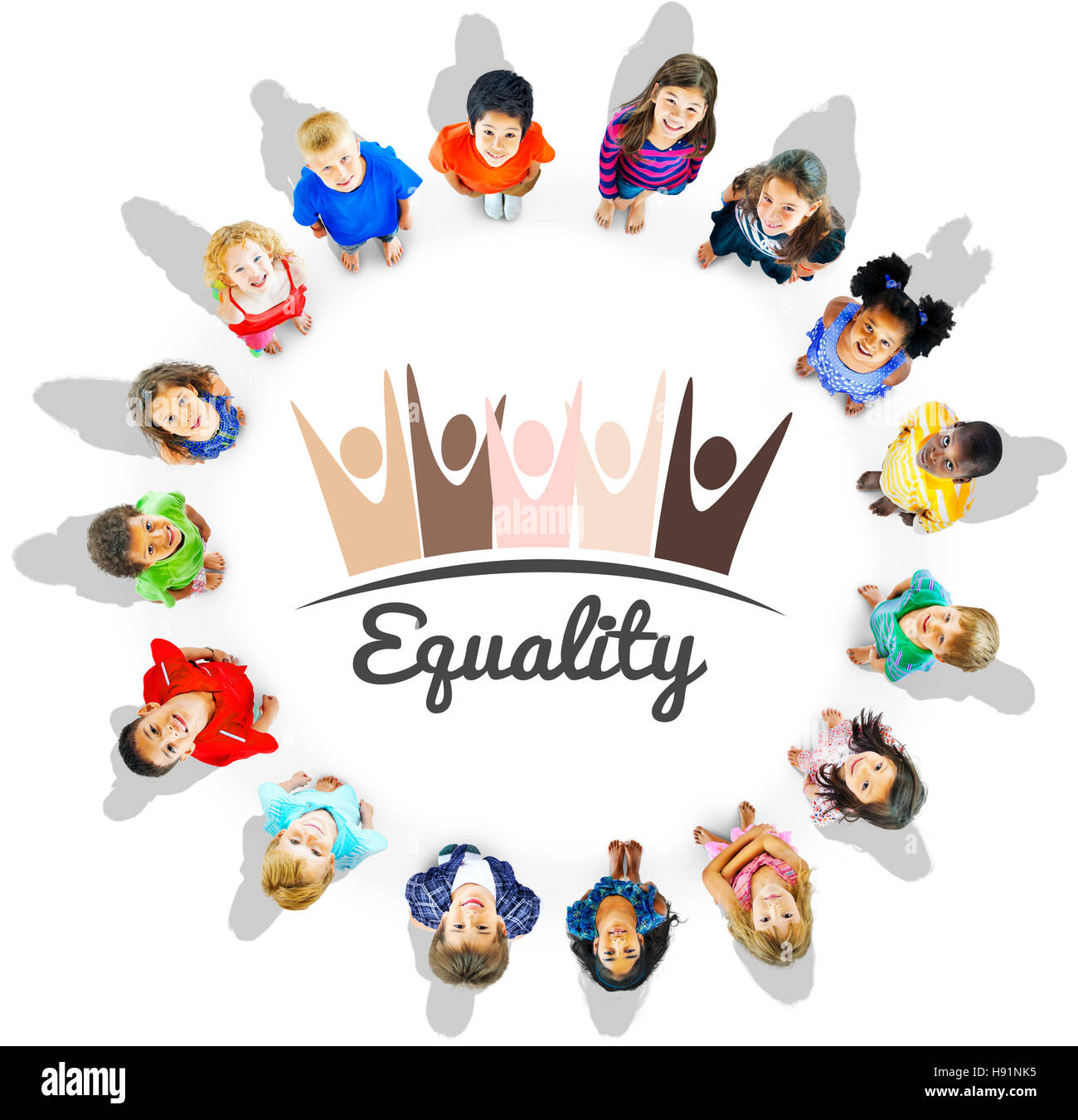 Equality Fairness Fundamental Rights Racist Discrimination Concept - Stock Image
