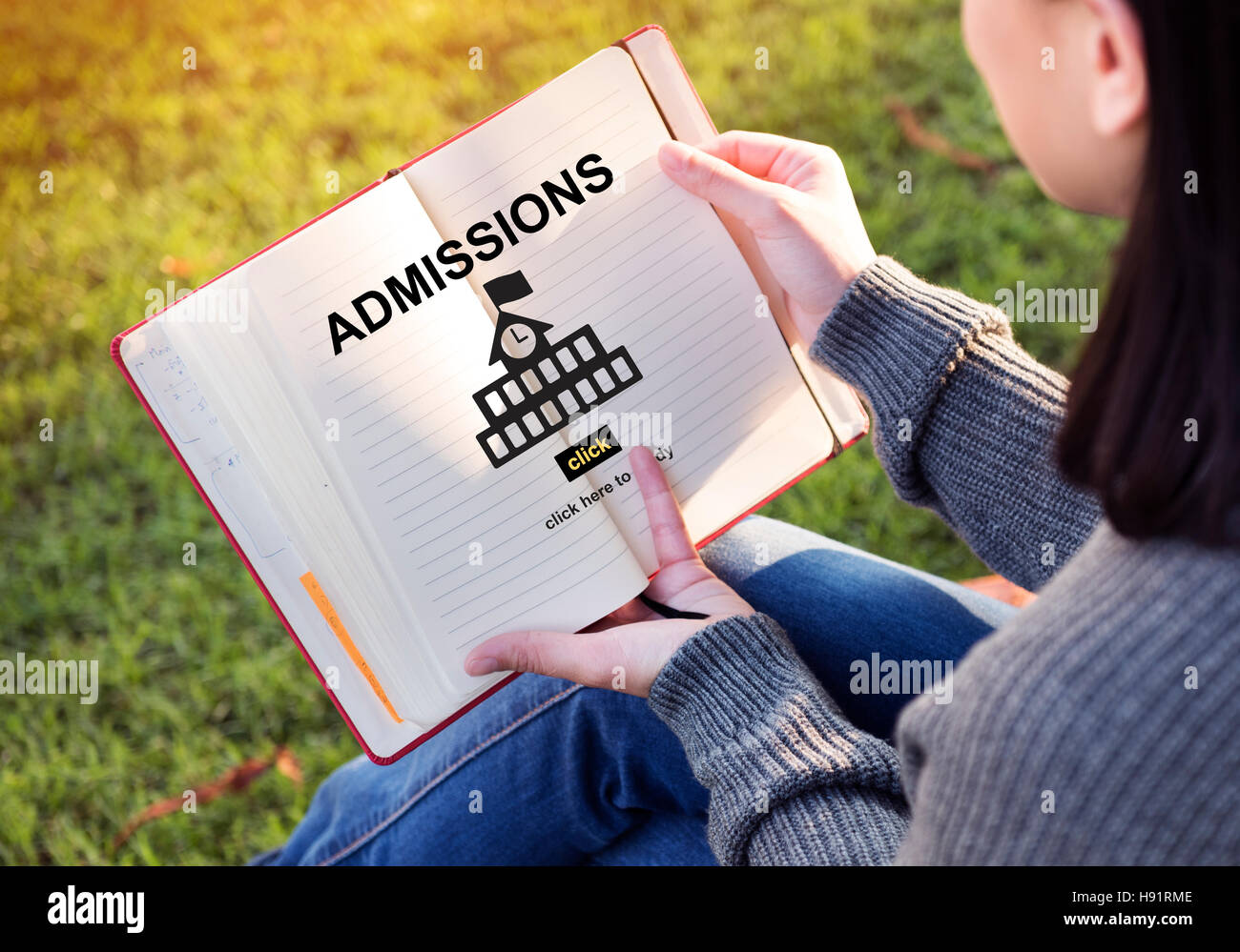 Admissions Education Knowledge University Academic Concept - Stock Image