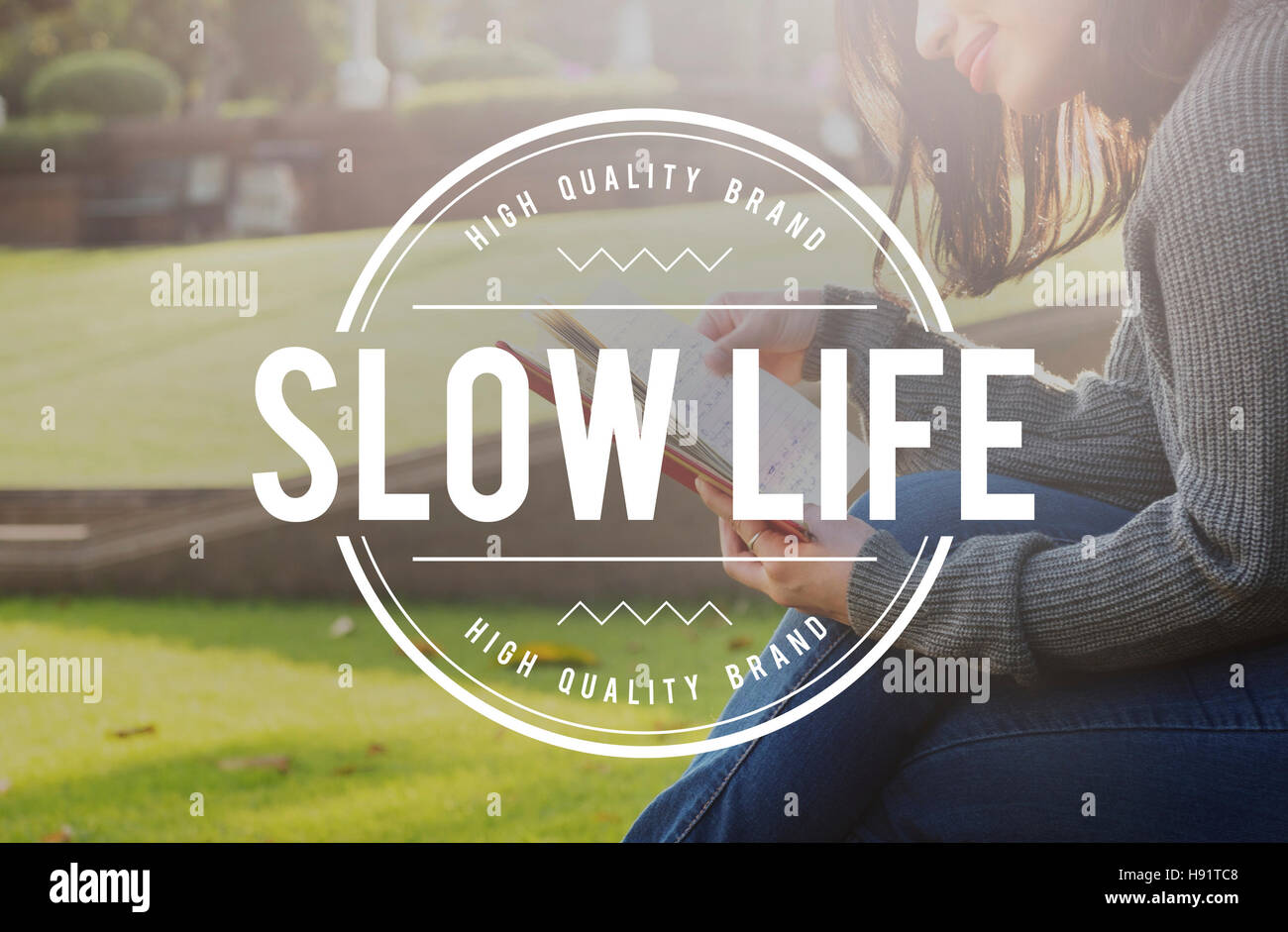 Slow Life Lifestyle Relaxation Silence Choice Concept Stock Photo