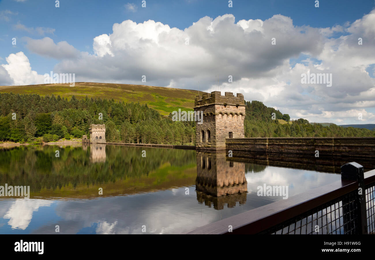 Howden Dam, Lady Bower Reservoir, Derbyshire, England UK - Stock Image