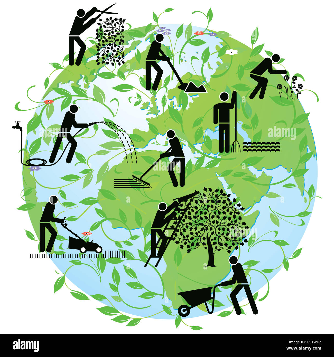 Global Agriculture - Stock Image