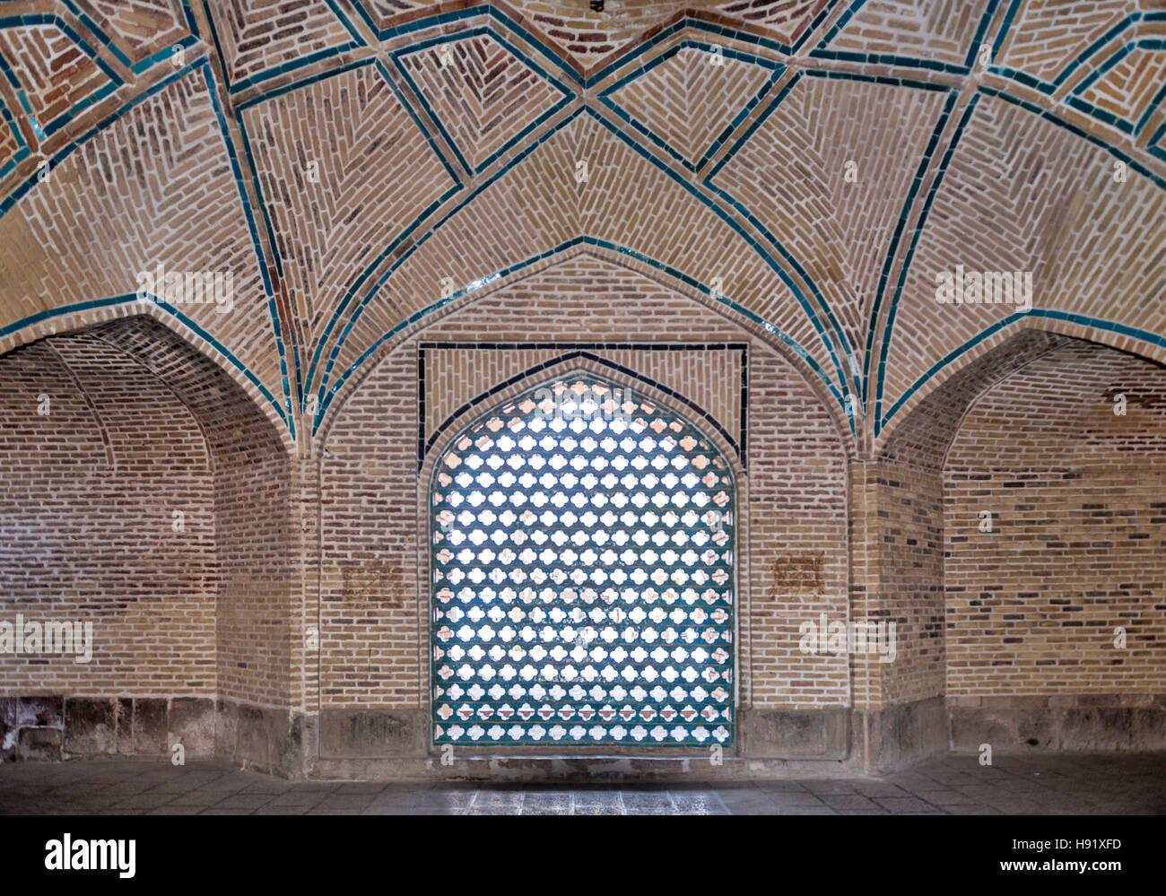 Mascidi Cuma Friday Mosque Kezvin Iran - Stock Image
