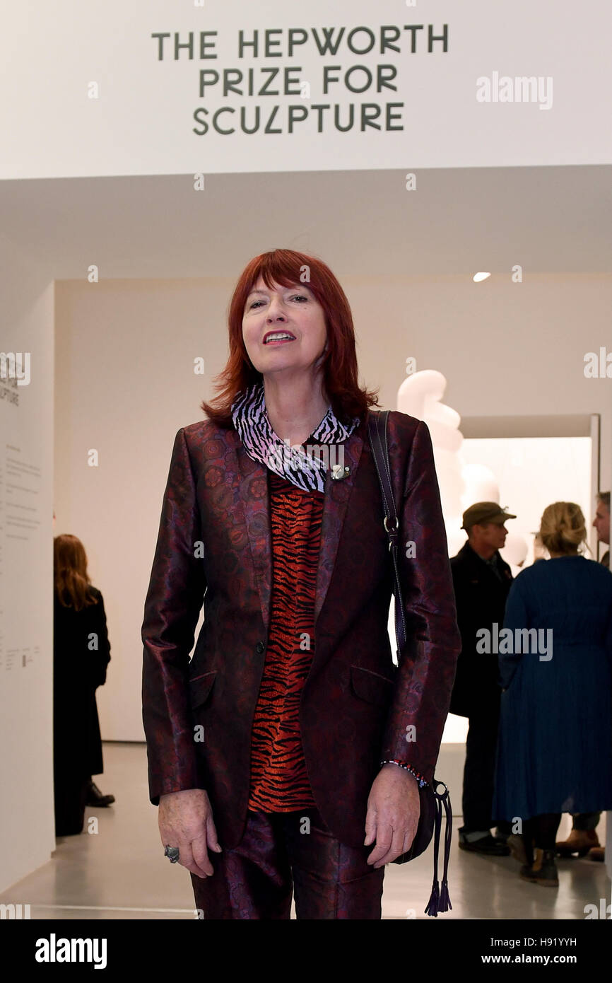 EDITORIAL USE ONLY Janet Street Porter arrives at The Hepworth Wakefield gallery in West Yorkshire for the inaugural - Stock Image