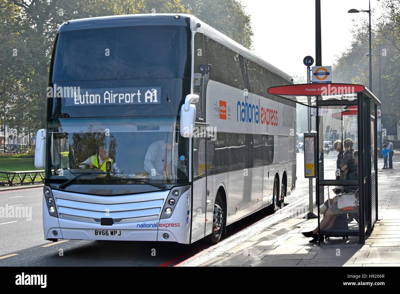National Express Public Transport Double Decker Coach Bus